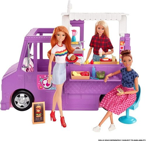 Barbie Veiculo Playset Food Truck Fresh + 30 Acessórios