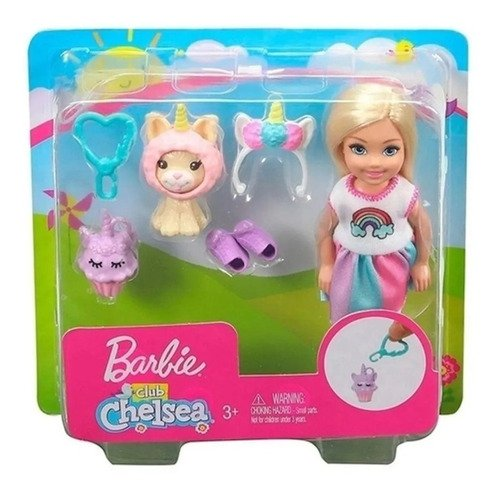Baby Barbie Club Chelsea Com Fantasia De Unicórnio