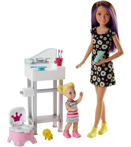 Boneca Barbie Babysitter Babá Skipper Com Peniquinho