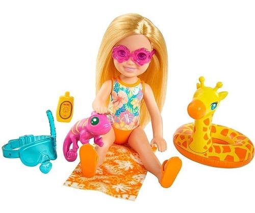 Boneca Barbie Chelsea Loira Na Praia Edição Especial 2021