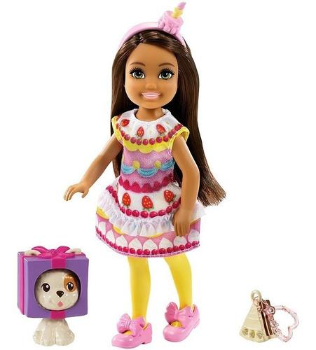 Boneca Barbie Chelsea Negra Fantasia Bolo Magico Com Pet