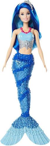 Boneca Barbie Dreamtopia Calda De Sereia Azul Com Brilhos