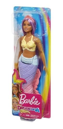 Boneca Barbie Dreamtopia Calda De Sereia Roxo Com Brilhos