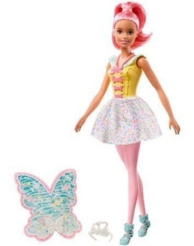 Boneca Barbie Dreamtopia Fadas Cabelos Rosa - Mattel