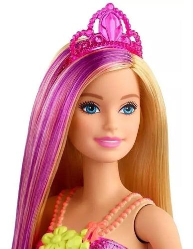 Boneca Barbie Dreamtopia Princesa Loira Vestido Floral