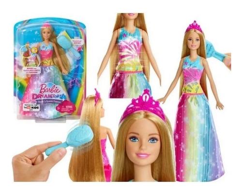Boneca Barbie Dreamtopia Princesa Vestido Magico C/luz E Som