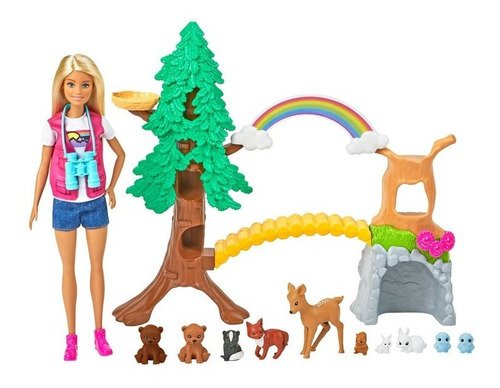 Boneca Barbie Exploradora Da Natureza Mundo Selvagem Ed 2021