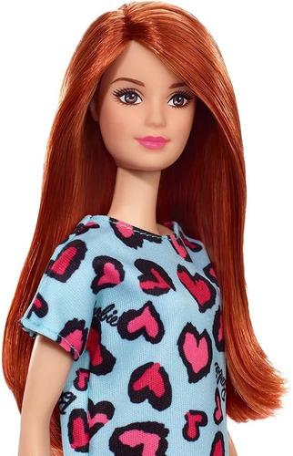 Boneca Barbie Fashion Beauty Loira Vestido Roxo Com Coração