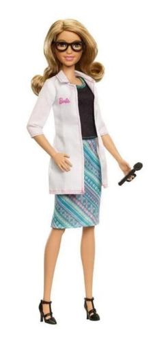 Boneca Barbie Medica Oftalmologista Loira Com Jaleco