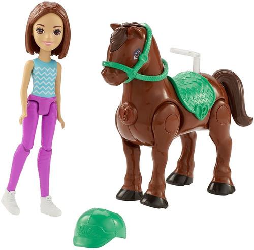 Boneca Barbie On The Go Morena Anda Sozinha Motorizada
