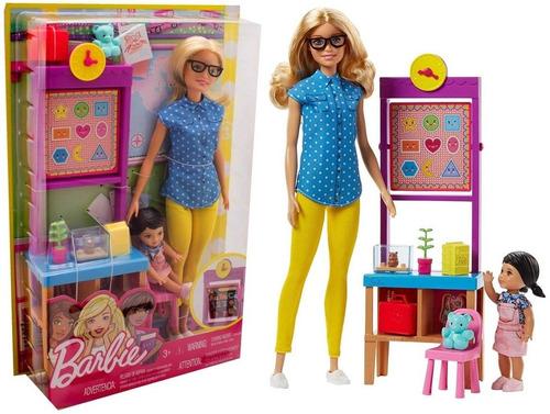 Boneca Barbie Professora Do Jardim De Infância + Aluna