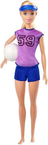 Boneca Barbie Profissões Atleta Jogadora De Vôlei De Praia