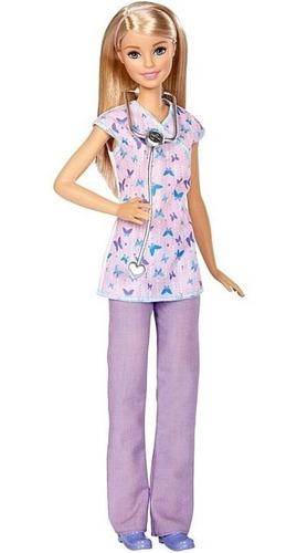 Boneca Barbie Profissões Enfermeira De Pet - Com Acessórios