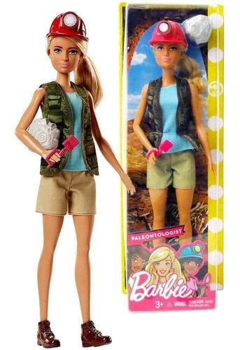 Boneca Barbie Profissões Quero Ser Arqueóloga Com Acessórios