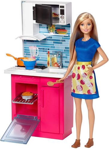 Boneca Barbie Real Móvel Com Cozinha E Eletrodomestico