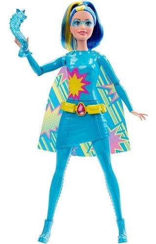 Boneca Barbie Super Heroína Edição Dvd 2015 Azul Especial
