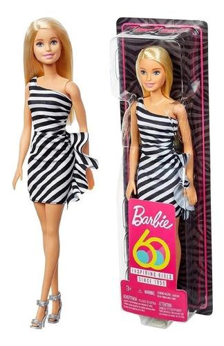 Boneca Barbie Tradicional Vestido Edição Especial 60 Anos