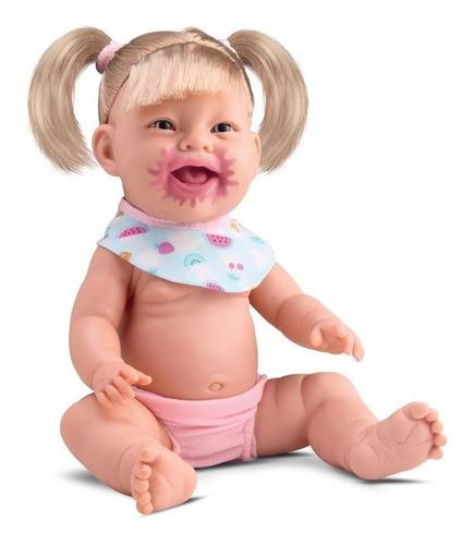 Boneca Bebê Menina Grande Amora C/ Acessórios Estilo Reborn