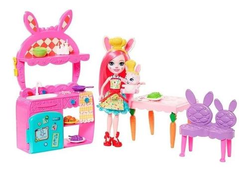 Boneca Bree Bunny Enchantimals Diversão Na Cozinha Cenario