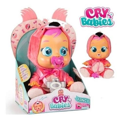 Boneca Cry Babies Flamy Com Chupeta Chora D Verdade Flamingo