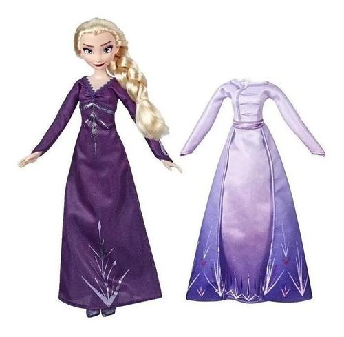 Boneca Frozen 2 Disney Elsa Troca De Roupa 2 Vestido
