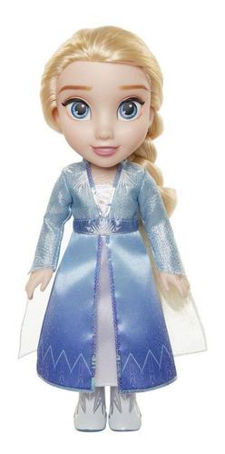 Boneca Frozen2 Elsa Com Vestido E Botas De Luxo Edição 37cm