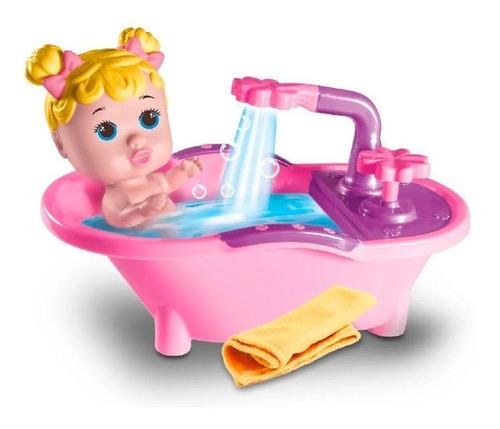 Boneca Milk My Hair Petit Banho Magico - Banheira Sair Agua