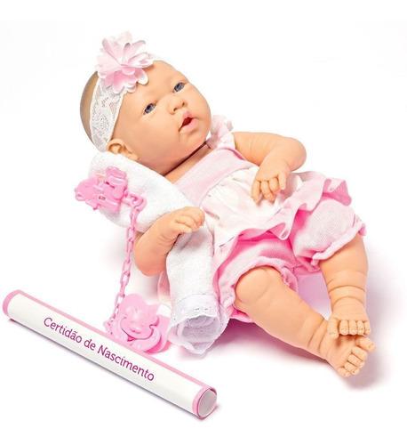 Boneca Reborn Baby Ninos Para Menias Linda Fofa + Acessórios