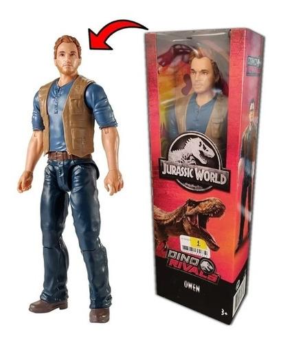Boneco Jurassic World Dino Rival Articulado Owen 30cm