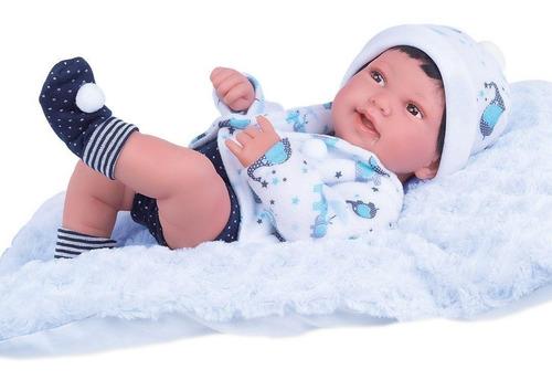 Boneco Reborn Anny Doll Baby Menino Collection C/ Acessórios