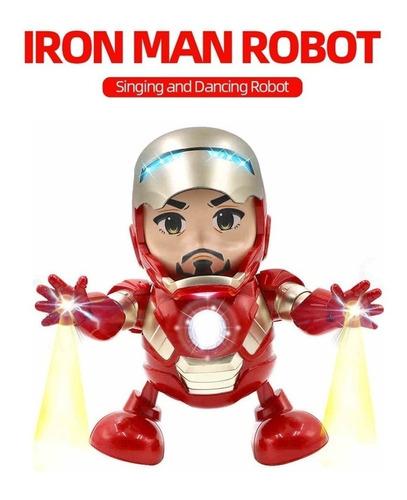 Dança Homem Ferro Brinquedo Marvel Robô Eletrônico W / Led