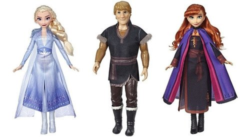 Frozen 2- Kit Bonecas Elsa, Anna E Kristoff 30 Cm + Brinde