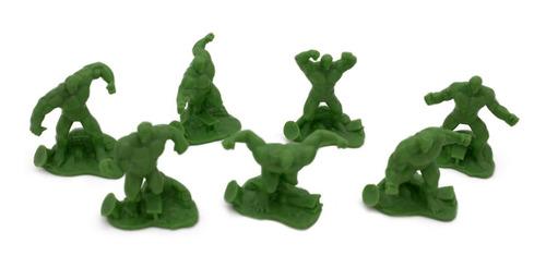 Kit Com 40 Miniatura Bonecos De Plástico Vingadores Marvel