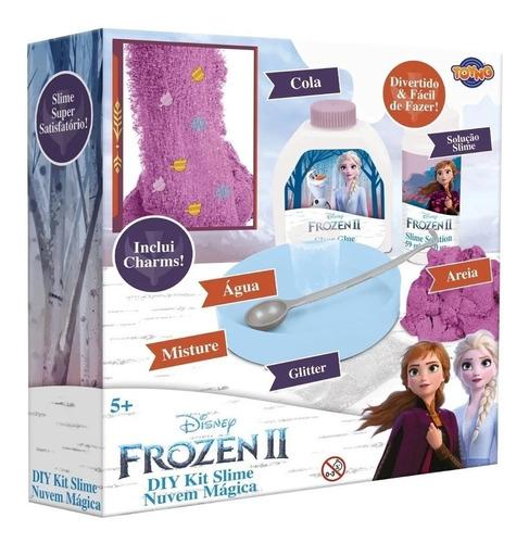 Kit Completo Slime Nuvem Magica Com Glitter Frozen 2 Disney