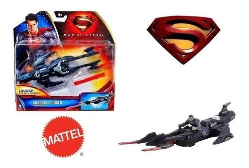 Veículo Jato Secreto Com Figura Do Superman - Mattel
