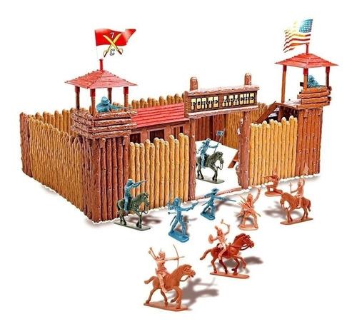 Forte Apache Batalha Junior Gulliver Original 20 Figuras