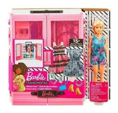 Guarda Roupas Da Barbie Fashionistas Acessórios + Boneca