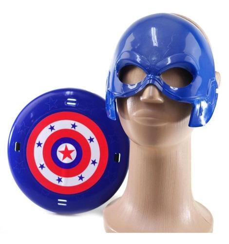 Kit Marvel Mascara + Escudo Brinquedo Capitão América
