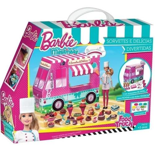 Massinha De Modelar Barbie Sorvetes E Delícias Divertidas