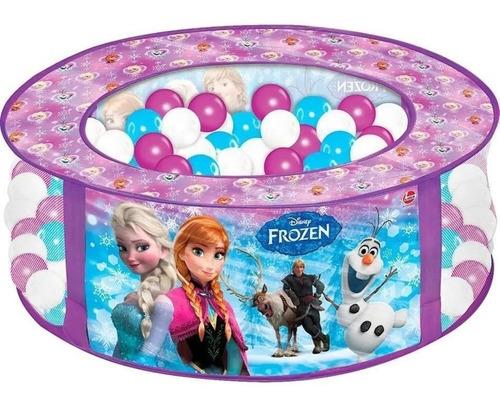 Piscina De Bolinha Princesa Frozen Infantil + 100 Bolinhas