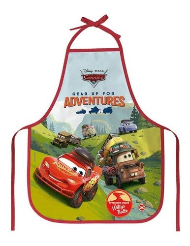 Avental Infantil Carros - Protege A Roupa - Colorido