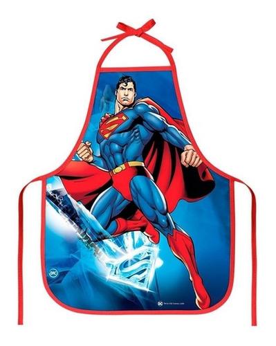 Avental Infantil Superman Dc - Protege A Roupa