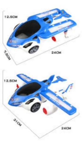 Carro E Aviao Transformers Com Luz E Led E Anda Sozinho