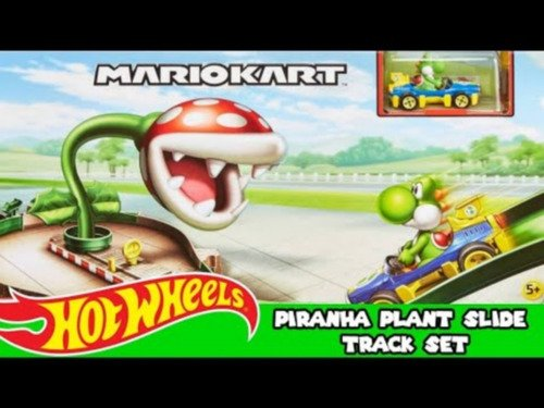 Hot Wheels - Mario Kart - Rampa Piranha Gfy47 + Carro Yoshi