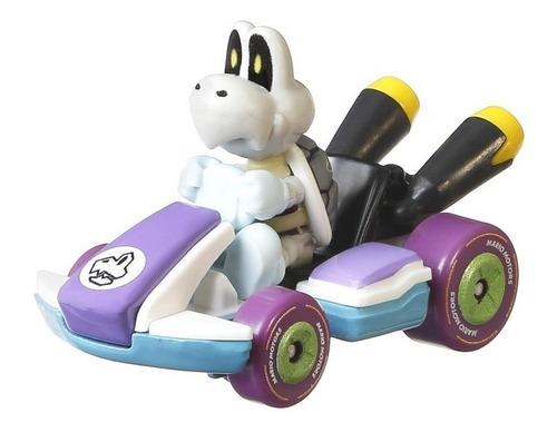 Hot Wheels Carrinho Dry Bones Stardard Kart Mario Kart 1/64