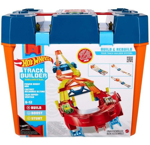 Hot Wheels Pista Track Builder Mega Caixa Impulso Booster Box Edição E