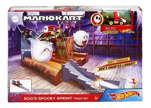 Pista Hot Wheels Mario Kart Boo's Spooky Edição Limitada