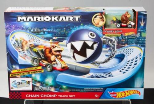 Pista Hot Wheels Mario Kart Conjunto De Esteiras Chain Chom