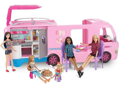 Veículo E Boneca Barbie Trailer Dos Sonhos 3 Em 1 - 60 Peças