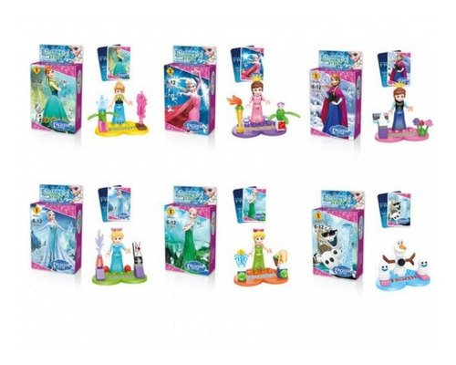 Bloco De Montar - Princesas - Frozen - Anna E Elsa 6 Em 1